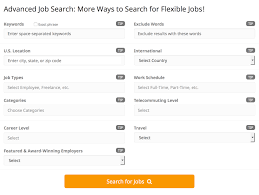 Advanced Search Flexjobs Faq Advanced Search Options Flexjobs