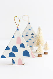 diy fabric covered tree ornaments julep