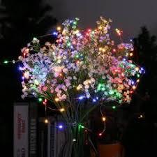 multi color tree lights solar 100 led string