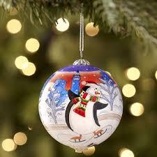 pier 1 li bien skating penguins ornament li bien