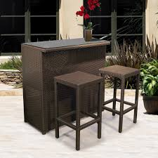 stylish outdoor wicker bar stool patio u0026 outdoor outdoor bar