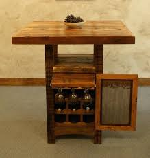 pub table with wine rack wine rack reclaimed barnwood pub table with wine cabinet rustic