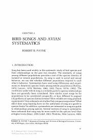 Crna Resume Examples Bird Songs And Avian Systematics Springer