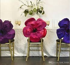 cheap sashes for chairs 2017 2016 taffeta big 3d flower wedding chair sashes