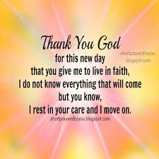 thank you god for this new day morning prayer