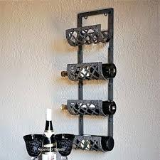 metal wine bottle and glass wall rack small metal wall wine rack