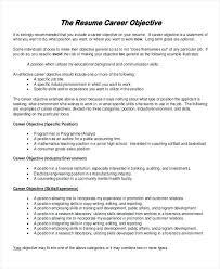 do i need an objective on my resume sample resume objective 6