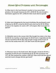 awesome collection of percent word problems worksheets grade 6