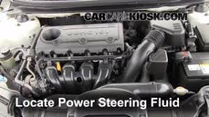 hyundai elantra power steering fluid check power steering level kia forte 2010 2013 2010 kia forte
