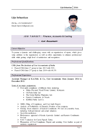 Cost Accountant Resume Sample by Sample Resume For Cost Accountant In India Templates