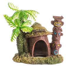 blue ribbon pet products environments betta hut with palm