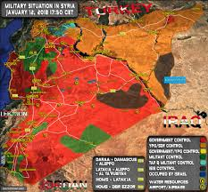 syria on map situation in syria on january 12 2018 map update