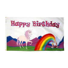 Happy Birthday Flags Happy Birthday Unicorn Flag For Sale 5 Shipping