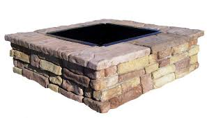 Brick Fire Pit Kit by Outdoor Stone Fire Pit Kit Menards Home Fireplaces Firepits