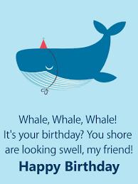 cute whale funny birthday card for friends birthday u0026 greeting