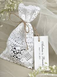 lace favor bags 4lovepolkadots wedding favor bags rustic wedding favors and