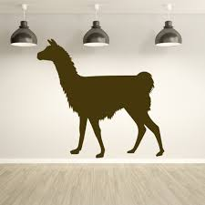 llama silhouette south america wild animals wall stickers home llama silhouette south america wild animals wall stickers home decor art decals