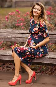 anna maternity shift dress midnight garden maternity wedding