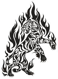 tiger fire tribal tribal pinterest tigers