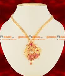 gold big chain necklace images Nckn115 semi precious ruby stone party wear big flower dollar