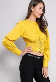 corset blouse smocked corset blouse shop fall fashion at papaya clothing
