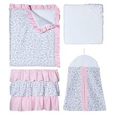 sweet jojo designs crib bedding set pink kenya 11pc target