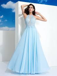 chiffon dress a line princess spaghetti straps applique sleeveless chiffon