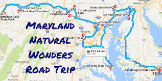 Patapsco State Park Map by Amazing Maryland Natural Wonders Road Trip
