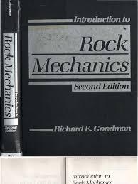 goodman r e introduction to rock mechanics 2nd edition
