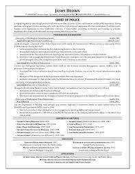 sample resume for law enforcement resume for your job application