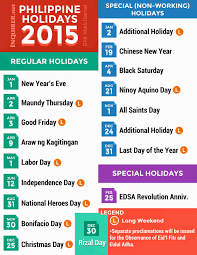 nonworking 2015 regular non working special holidays ph mabzicle