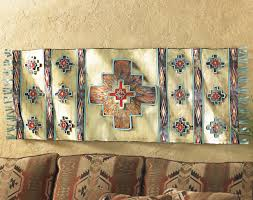 Hanging Rugs On A Wall Southwestern Rug Metal Art Wall Hanging
