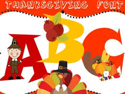 thanksgiving font personal commercial use classroom