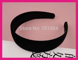 wholesale headbands 10pcs 30mm 1 15 black velvet fabric covered plain plastic hair