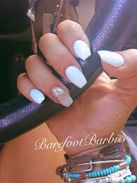 top 25 best white acrylic nails with glitter ideas on pinterest