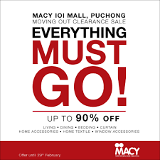 macy moving out clearance sale puchong malaysia