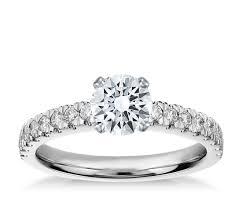 nouveau engagement rings nouveau engagement ring in platinum 1 3 ct tw blue nile