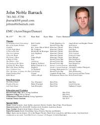 acting resume acting resume template for free 10 acting resume