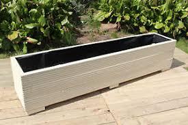 large wooden garden planter trough 150cm length decking painted