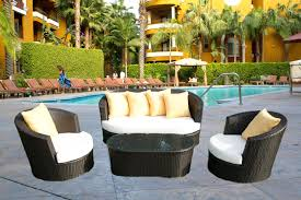 Outdoor Patio Furniture Wicker Black Wicker Patio Furniture Backyard Landscape Design