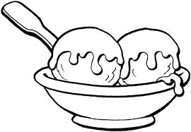 two ball ice cream coloring pages foods coloring pages of