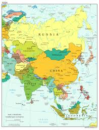 asia political map map of asia political nations project in asian cities
