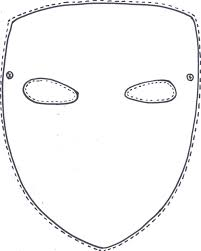 printable lizard mask template template for face mask