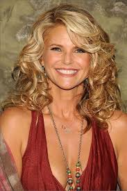long curly side swept hairstyles for over 60 http