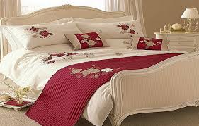 Red Gold Comforter Sets Modern Red White Roses Bedding Comforters Sets Bed Comforters