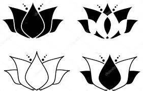lotus flower tribal tattoo set u2014 stock photo jamesstar 90171732