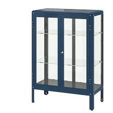 kitchen storage cabinets at ikea fabrikör glass door cabinet black blue 31 7 8x44 1 2
