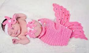baby girl crochet 2018 infant girl newborn baby girl knit crochet mermaid headband