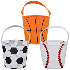 sports easter baskets bulk polyester easter sports buckets with handles at dollartree