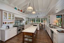 Carrara Marble Kitchen by Beautiful Kitchen Features Carrara Marble Countertops And Vaulted